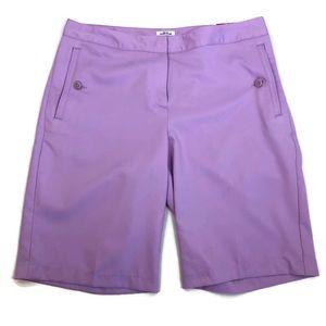 Izod Performance Cool-FX Stretch Purple Shorts